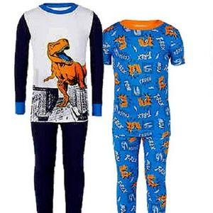 Kirkland Signature Kid's Boys'' 4 PC Pajama Set